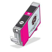 Inkedibles Edible Ink Refillable Cartridge for Canon CLI-271XL (Deep Magenta)