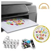 PROFESSIONAL DELUXE PACKAGE: INKEDIBLES WIDE FORMAT CANON IX6820 BUNDLED PRINTING SYSTEM (INCLUDES BRAND NEW PRINTER + EDIBLE INK CARTRIDGES + CLEANING CARTRIDGE