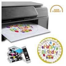 WIDE FORMAT: Canon iX6820 Wireless Inkjet Business Printer with a complete set of edible ink cartridges