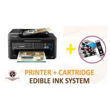 Inkedibles Epson WF-2630 Bundled Printing System - includes brand new printer with complete set of edible ink cartridges