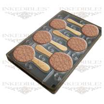 300 x Edible Universal Retail THC Label (Edible Image Transfer) for use with 11 inch x 7 inch magnetic molds (InkEdibles mold design 530-017-01)
