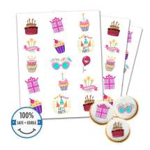Custom Printed Cookie Toppers Cupcake Toppers -15 circles, 1.875 inch