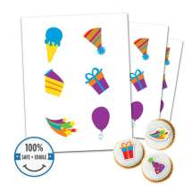 Custom Printed Cookie Toppers & Cupcake Toppers - 6 circles, 3 inch