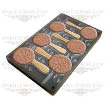 Inkedibles Large Size (11 inch x 7 inch) Magnetic Chocolate Mold (design 530-017, for use with transfer sheets)