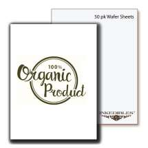 Inkedibles Premium Organic Wafer Sheets Size 0.3mm thickness (50 pack, A4)