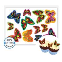Edible Wafer Butterflies (Pack of 12)